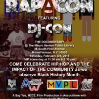 Rapacon Featuring DJ-Con: The Documentary. Made with Adobe Photoshop. Commissioned by All Things Traffic LLC.