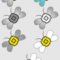 For Nose U (Andrea Bifulco) and The Society of Scent. The different versions of the Bee icons. Adobe Photoshop.